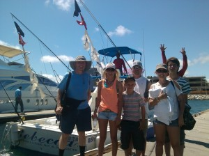 The Mansure Family from New Mexico – happy anglers!  Two Marlin Released, Nine Tuna Kept Aboard Pisces Rebecca