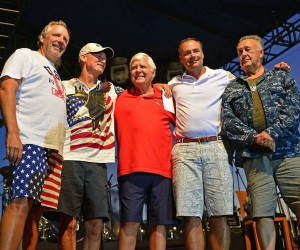 "Members of the Stars & Stripes elected, volunteer board of directors, ""The Knights"" including Tim Ryan, Dick Gebhard, founder and chairman of Stars & Stripes, Al Baldwin, Charles Ruck and Larry Kirkenslager at the 2014 Stars & Stripes Tournament which raised a record-breaking amount of $2.7 million during their 18th annual fishing, golf and music fundraiser in Mexico, pushing the figure of total funds raised since 1997 to more than $20 million. Managed by an elected, volunteer board of directors, ""The Knights,"" Stars & Stripes hosted more than 600 people from June 26-29, 2014 at the Hilton Los Cabos Beach & Golf Resort in Mexico to reel and putt for youth charities, including Orange County-based Orangewood Children's Foundation, Miracles for Kids, Big Brothers Big Sisters of Orange County and CASA (Court Appointed Special Advocates) of Orange County. /Photos courtesy of Stars & Stripes"