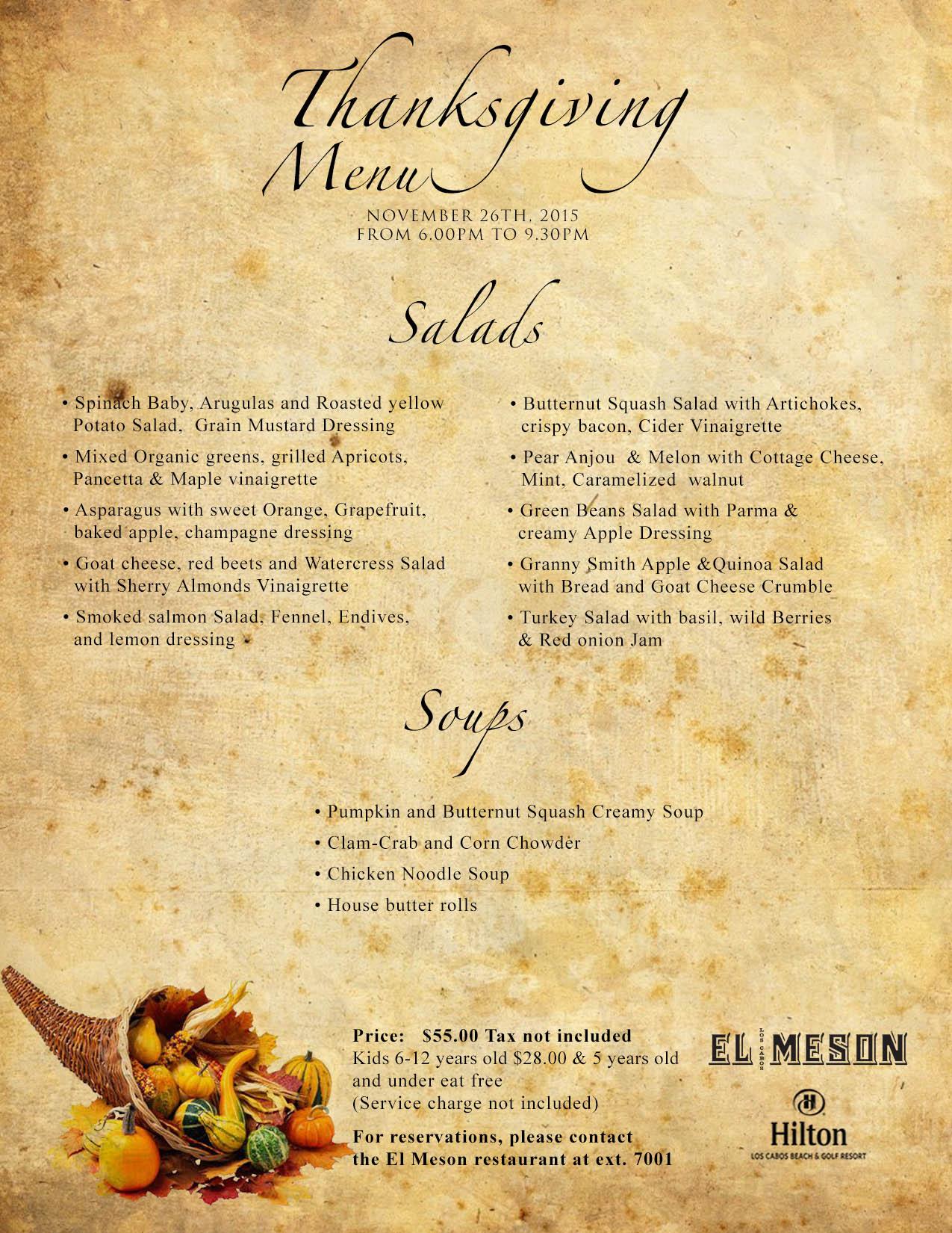 men thanksgiving - Yellow Restaurant 2015