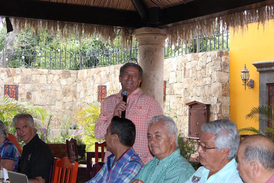 Bill Boyce with Destination: Baja Sur at Don Sanchez Restaurant, San Jose del Cabo.