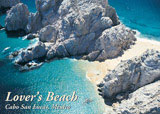 post card 110 - aerial view of lover's beach cabo san lucas