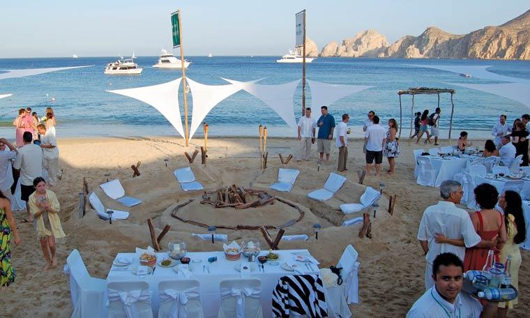 Beach Wedding Party The Medano Club Cabo San Lucas Los Cabos