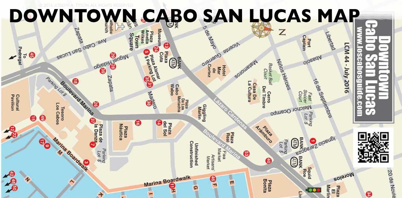 Cabo San Lucas Downtown Map Cabo San Lucas, Los Cabos