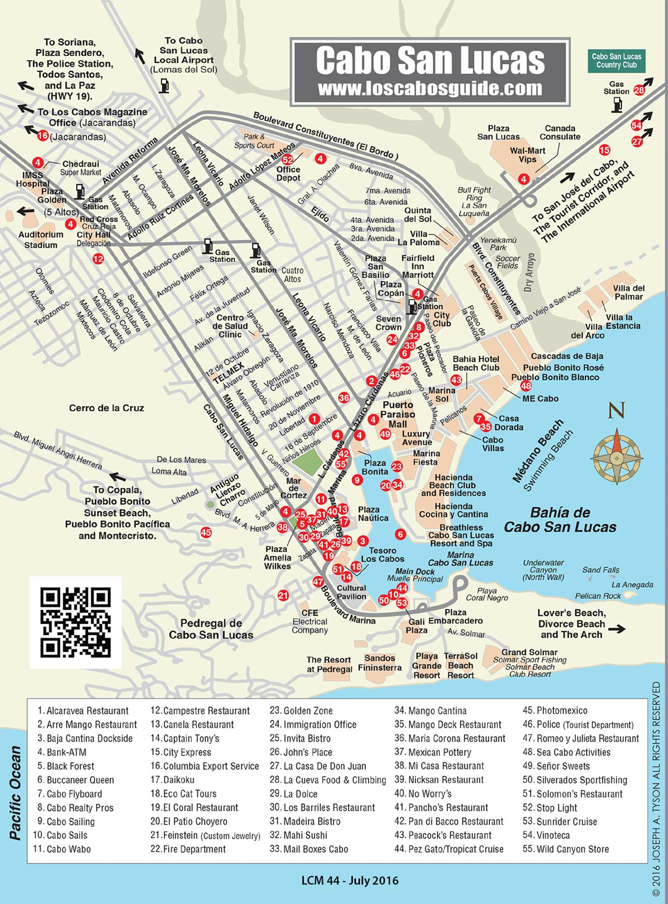 Map Of Cabo Cabo San Lucas Map   Los Cabos Guide