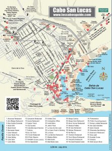 Cabo San Lucas city Map, LCM July 2016