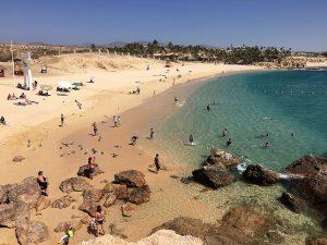 Chileno Beach along he Tourist Corridor of Cabo San Lucas