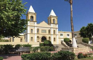 Historic church on the town square of San Jose del Cabo.