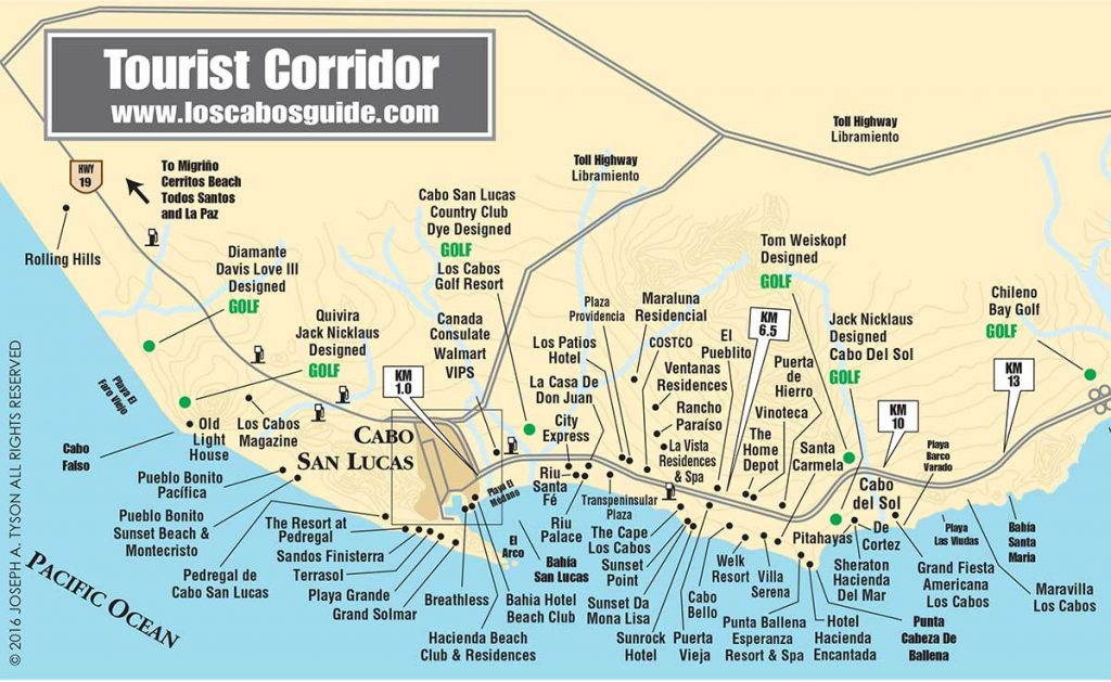 Los Cabos Tourist Corridor Maps, LCM- July 2016