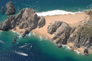 Aerial view of Lover's Beach, Cabo San Lucas, April 2012