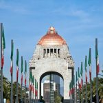 Monument to revolution of 1910, in the Republic Square Mexico DF