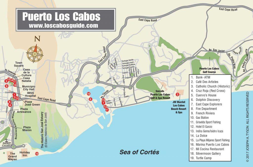 Puerto Los Cabos Map  Puerto Los Cabos, San José del Cabo, Los Cabos Baja California Sur, México.