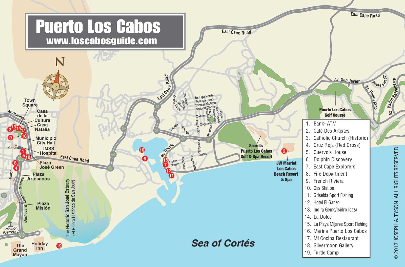 Cabo San Lucas Maps and Los Cabos Area Maps Cabo San Lucas Cabo Resorts Map on
