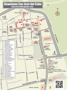 Downtown San Jose del Cabo Map, LCM July 2016