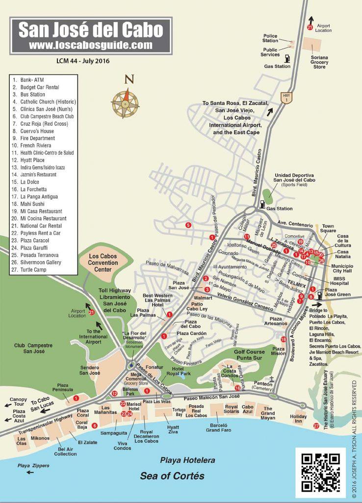 San José del Cabo Map
