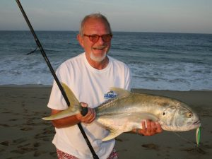 Jack Crevalle caught with surf fishing in Cabo San Lucas