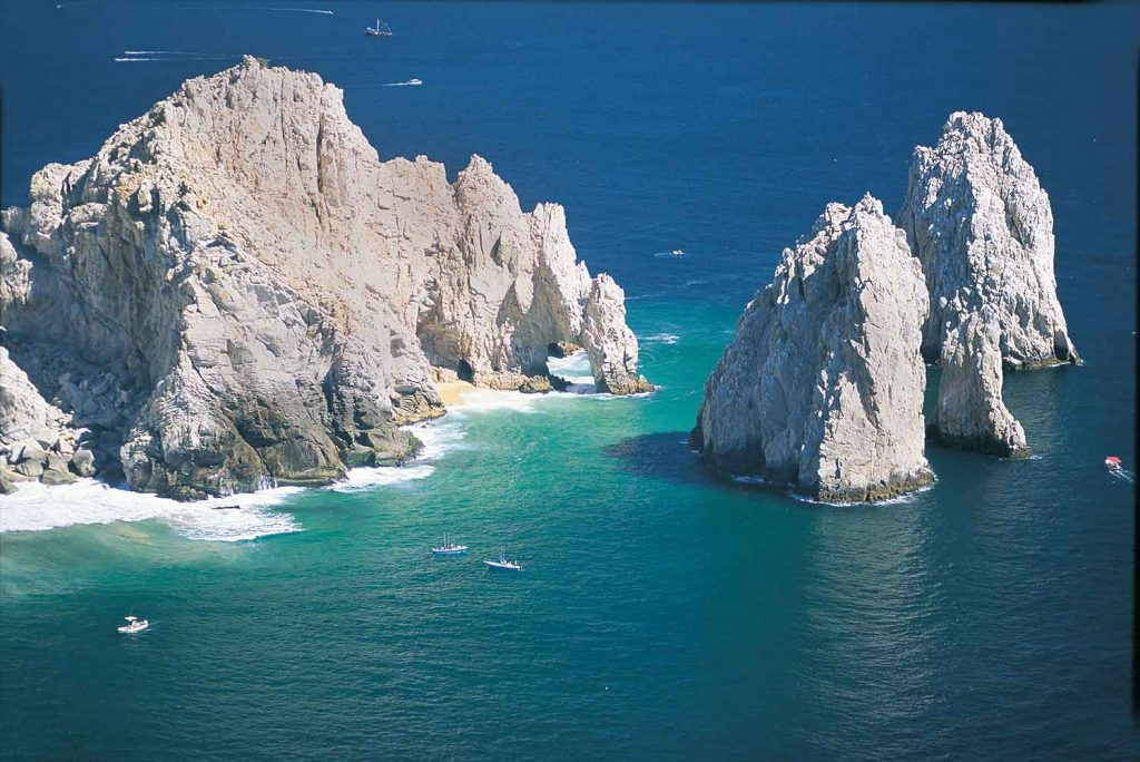 Aerial view of the arch at cabo 1997
