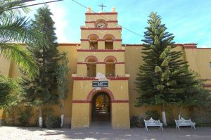Our Lady of Pliar Catholic Church in Todos Santos. Iglesia Nuestra Señora del Pilar. Photo February 2005 . Photo by Joseph A. Tyson.