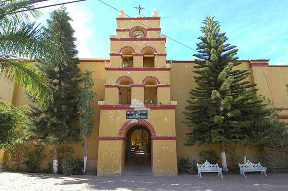 Our Lady of Pliar Catholic Church in Todos Santos. Iglesia Nuestra Señora del Pilar. Photo February 2005 . Photo by Joseph A. Tyson.