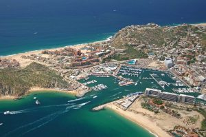 Aerial view of Marina Cabo San Lucas in 2012