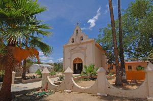 Miraflores, Baja, Church exterior 2008