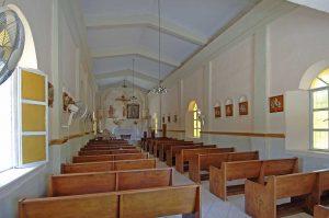 Miraflores, Baja, church interior 2008