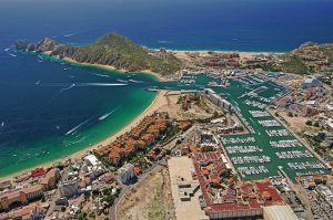 An aerial view of Land's End Cabo San Lucas. A Brief History of Los Cabos: 30 Million Years at Land's End.
