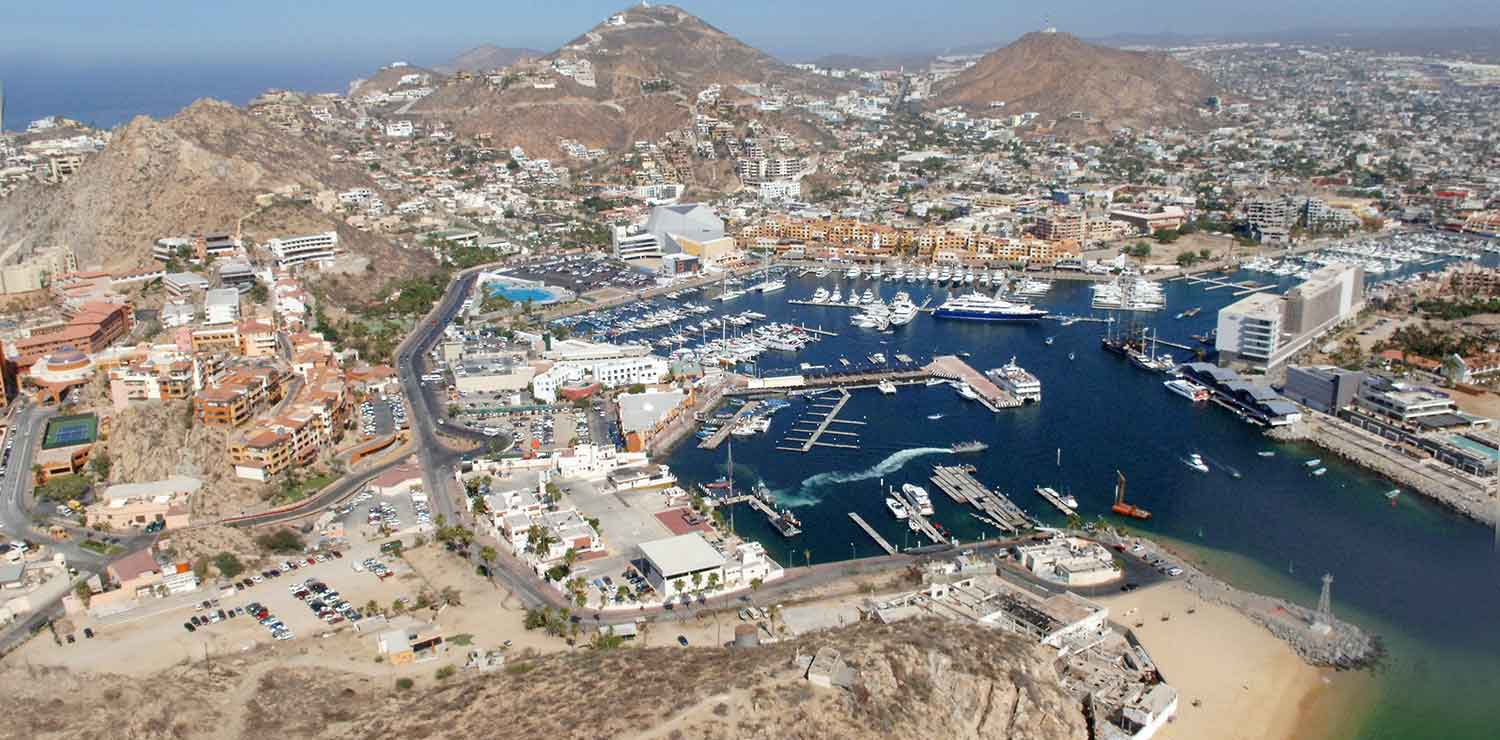 Cabo San Lucas Marina and town.