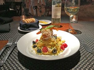 Pasta del mar at Cabo Wine and Jazz
