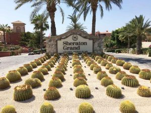 Entrance to Sheraton Grand Los Cabos 2017
