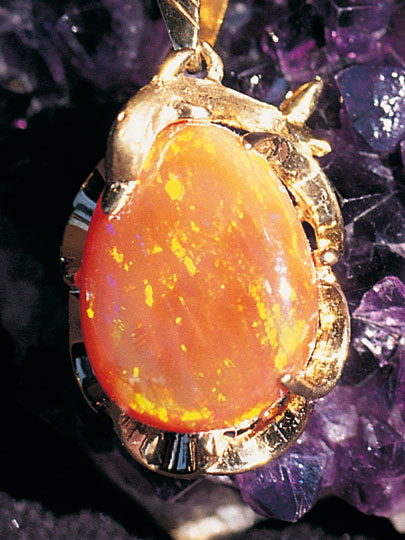 The lure of the mexican fire opal los cabos guide mexican fire opal pendant aloadofball Gallery