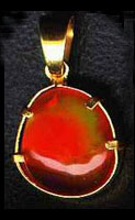 Mexican file opal in a pendant