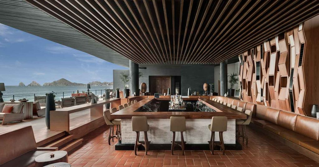 Lobby Bar panorama The Cape Thompson Los cabos. Photo Credit Thomas Hart Shelby
