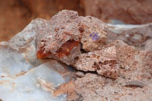 Opal rough at mine in Magdalena, Jalisco