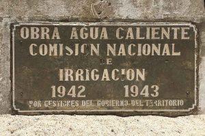 Agua Caliente Baja sign