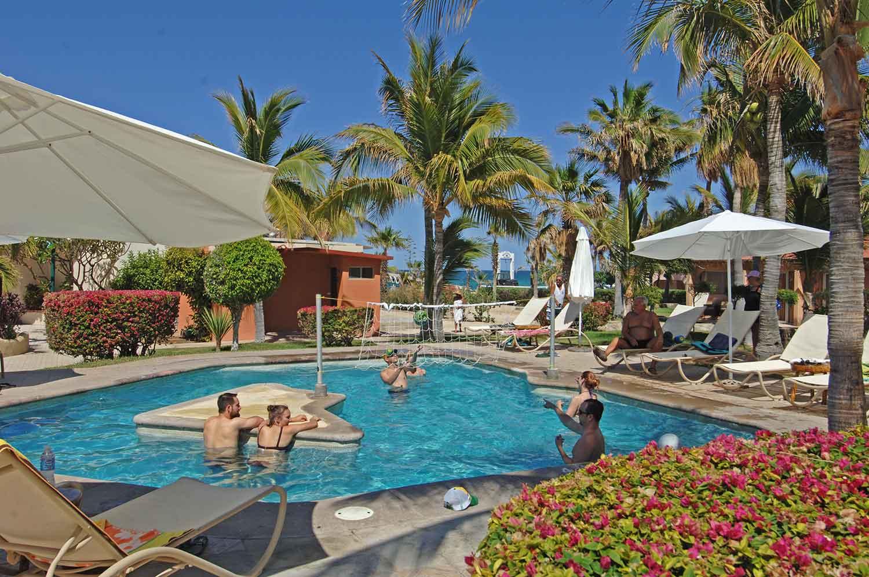Pool area at Hotel Buena Vista, East Cape, Baja, 2017