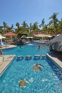 Pool areas at Hotel Buenavista, East Cape, Baja, 2017