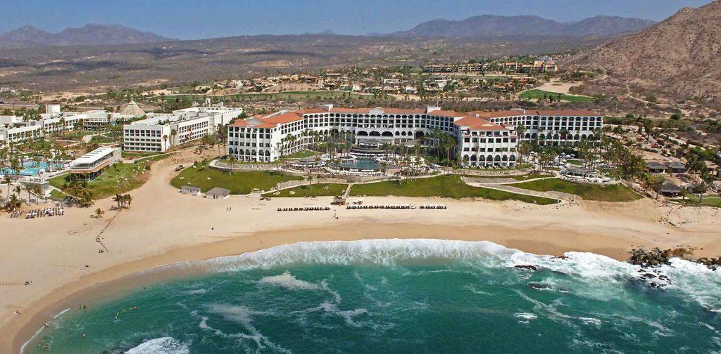Melia Cabo Real (partial left); Hilton Los Cabos (right) July 2017, Los Cabos, BCS