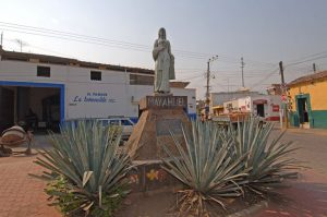 Statue at the entrace to the town of Tequila in Jalisco