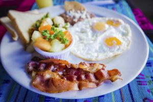 Breakfast plate at John's Place Cabo