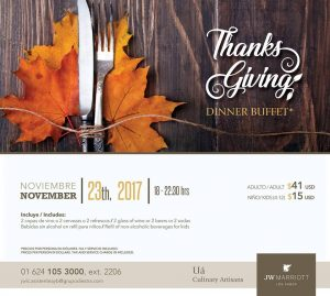 thanksgiving dinner 2017 los cabos jw-marriot