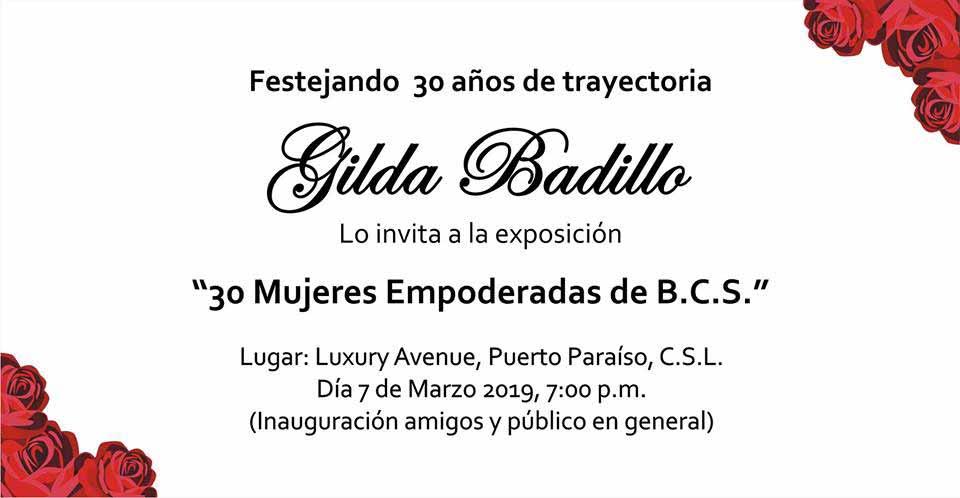 Gilda Badillo Exhibition March 2019 Cabo San Lucas