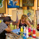 Art Class at casa Dorada