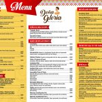 menu Doña Gloria english