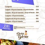 Menu Doña Gloria Español