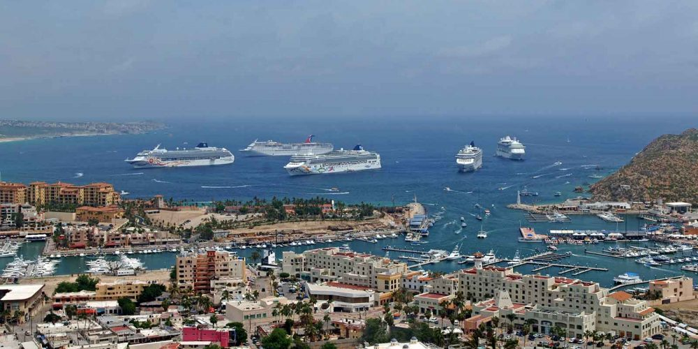 Five Cruise Ships in Cabo 2009