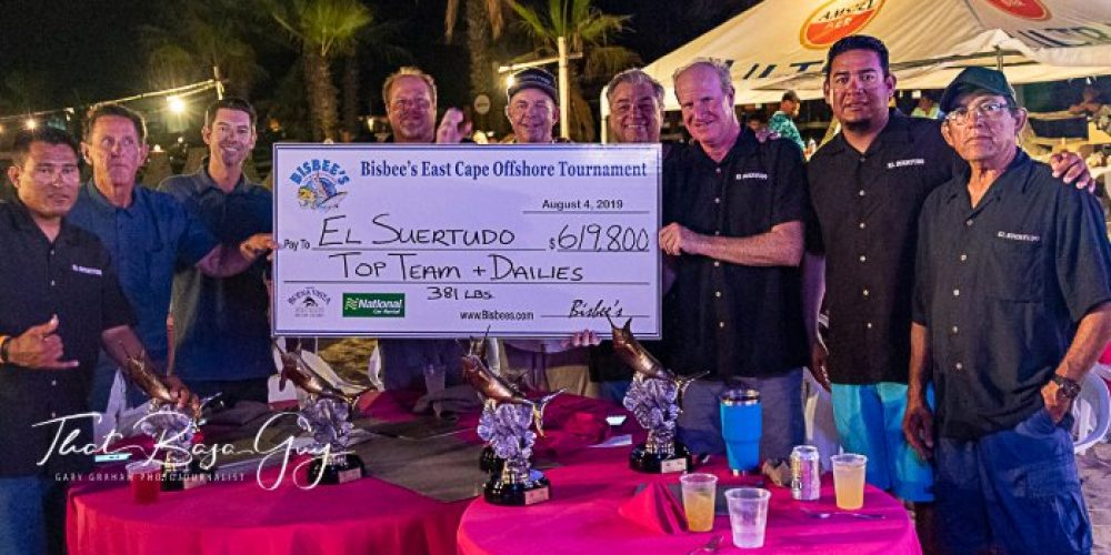 Team El Suertudo won top dollar at 20thAnnual Bisbee's East Cape Offshore tournament